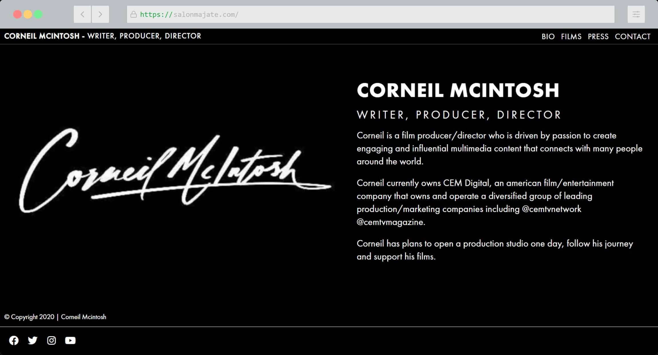 Corneil Mcintosh Website