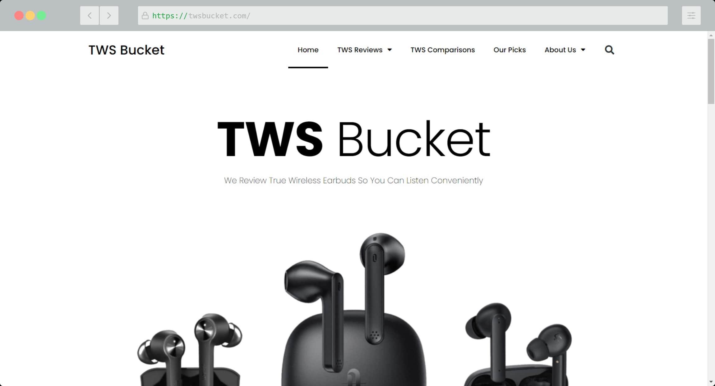 TWS Bucket Website